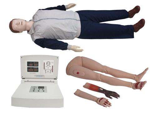 高级多功能心肺复苏模拟人(心肺复苏、创伤四肢)