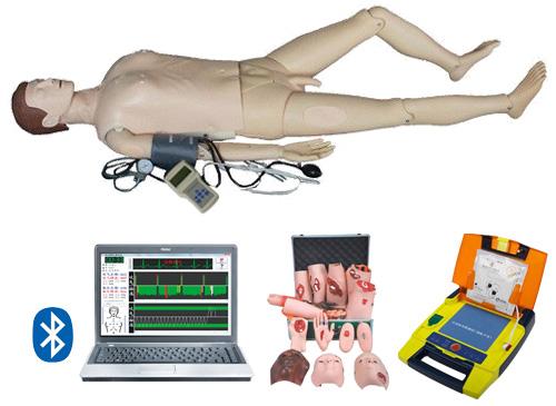 电脑综合急救心肺复苏模拟人(无线版-心肺复苏、血压测量、创伤、AED除颤、基础护理)